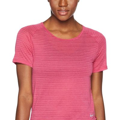 Nike - Nike Wild Cherry/Heather Miler Breathe Short Sleeve Top