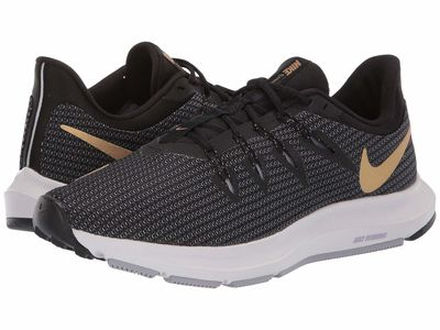 Nike - Nike Women Black/Metallic Gold/Provence Purple Quest Running Shoes