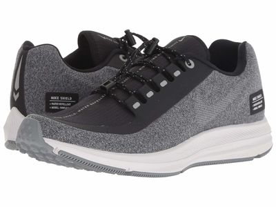 Nike - Nike Women Black/Metallic Silver/Cool Grey Air Zoom Winflo 5 Run Shield Running Shoes