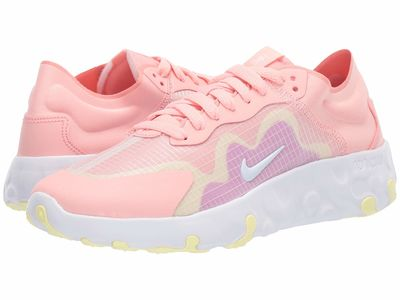 Nike - Nike Women Bleached Coral/White/Hyper Violet Renew Lucent Lifestyle Sneakers