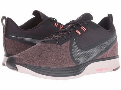 Nike - Nike Women Oil Grey/Metallic Silver/Smokey Mauve Zoom Strike 2 Shield Running Shoes