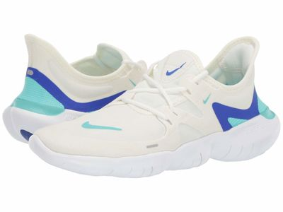 Nike - Nike Women Sail/Aurora Green/Racer Blue Free Rn 5.0 Running Shoes
