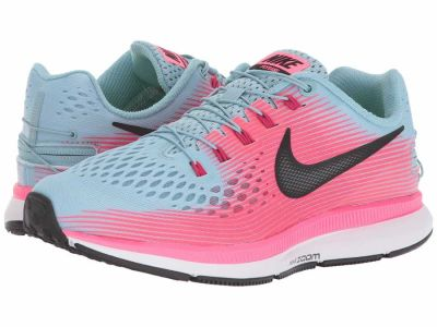 Nike - Nike Women's Mica Blue Black Racer Pink Sport Fuchsia Air Zoom Pegasus 34 FlyEase Running Shoes