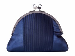 Nina Navy Diamond Cross Body Bag - Thumbnail