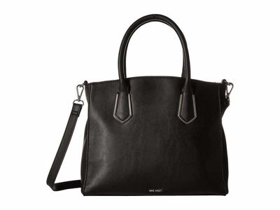 Nine West - Nine West Black Blossoming Satchel Satchel Handbag
