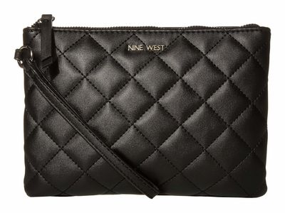 Nine West - Nine West Black Emmeline Slg Wristlet Pouch Coin & Card Case Coin Card Case