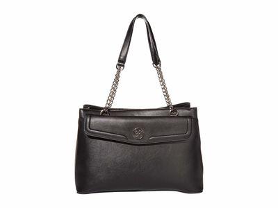 Nine West - Nine West Black Keanu Shoulder Satchel Handbag