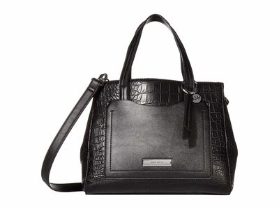 Nine West - Nine West Black Multi Ryleigh Satchel Handbag
