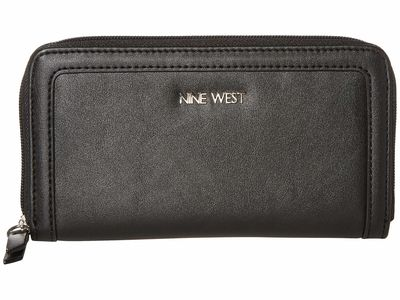 Nine West - Nine West Black Vesper Slg Full Of Sparkle Zip Around Bifold Wallet Checkbook Wallet
