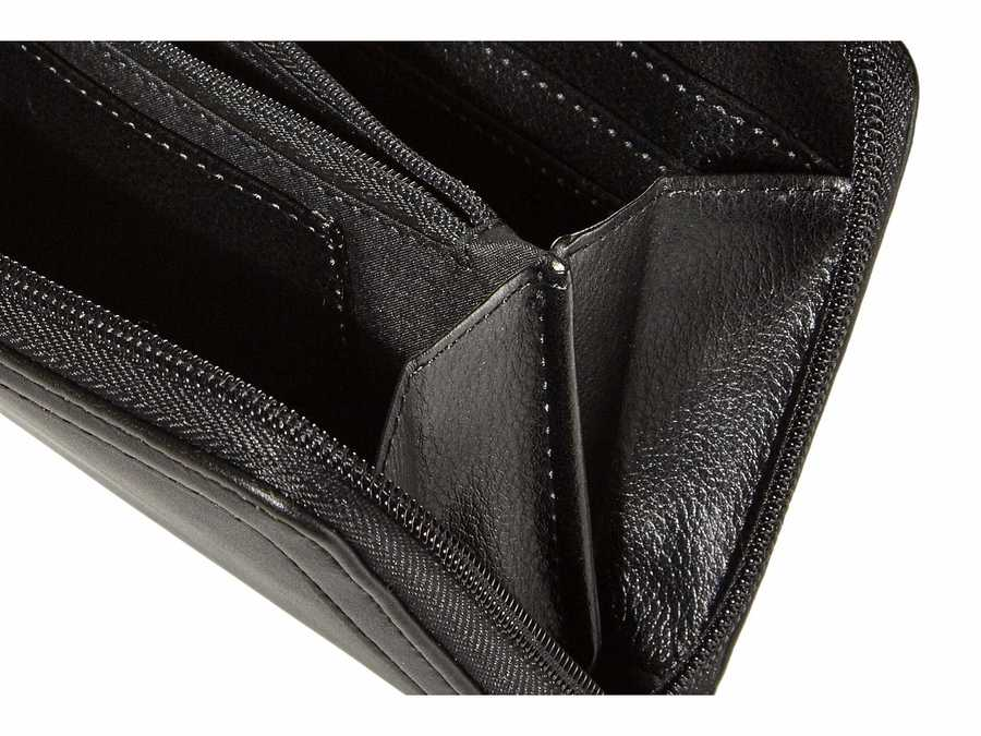 Nine West Black Vesper Slg Full Of Sparkle Zip Around Bifold Wallet Checkbook Wallet