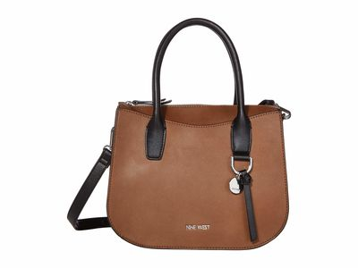 Nine West - Nine West Bourbon Multi Kadence Satchel Handbag