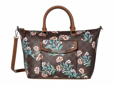Nine West Brown Multi Haidyn Tote Handbag