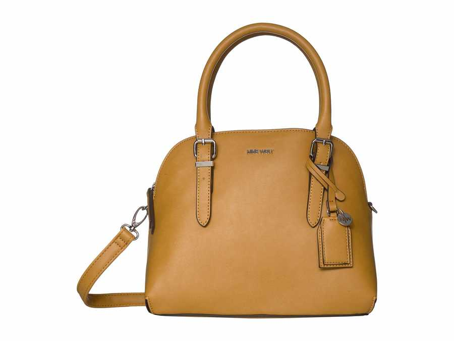 Nine West Butter Carrigan Dome Satchel Handbag