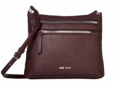 Nine West - Nine West Dark Garnet Coralia Ailani Cross Body Bag