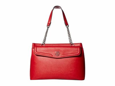 Nine West Dark Lipstick Red Keanu Shoulder Satchel Handbag