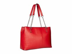 Nine West Dark Lipstick Red Keanu Shoulder Satchel Handbag - Thumbnail