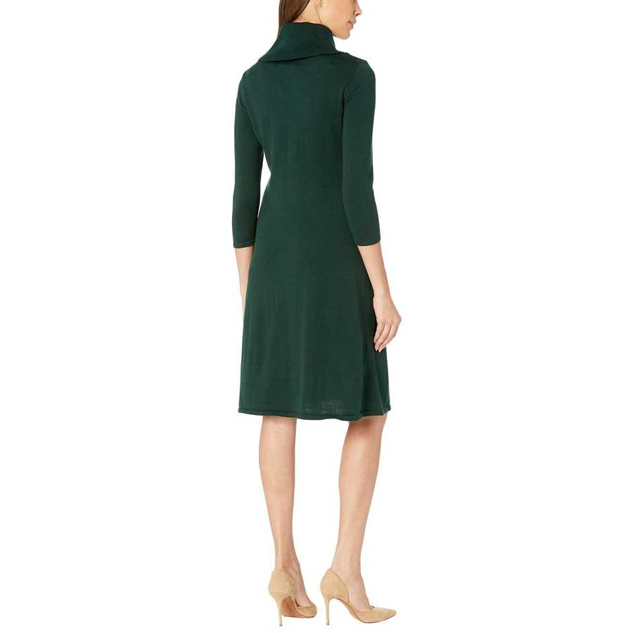 Nine West Hunter Cowl Neck Fit-And-Flare Knit Dress