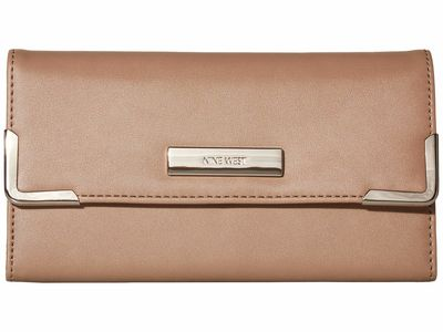 Nine West - Nine West Latte Vesper Slg Around The Clock Check Checkbook Wallet Checkbook Wallet