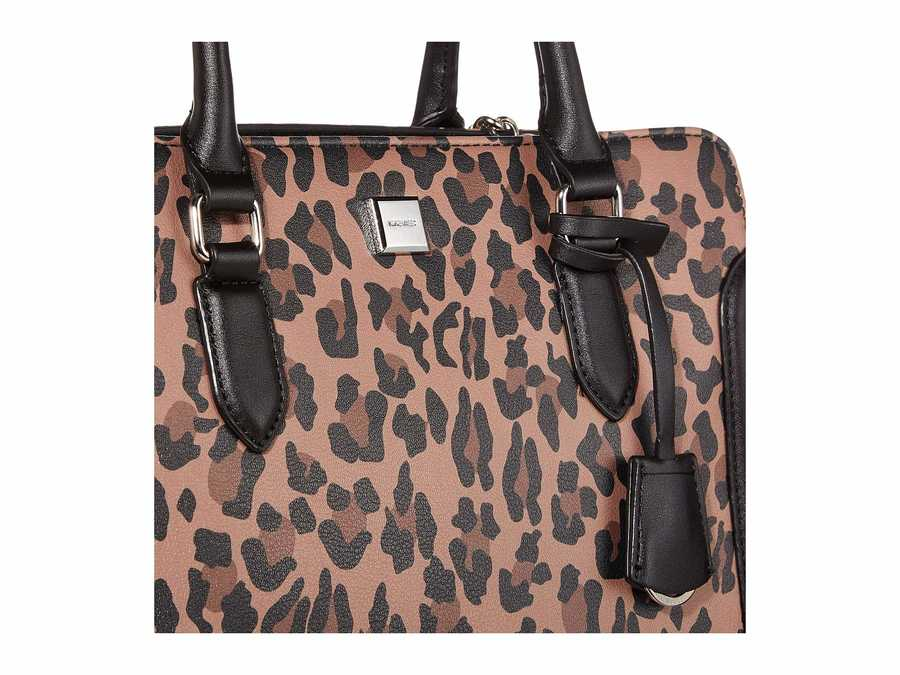 Nine West Leopard Coralia Me Time Satchel Handbag