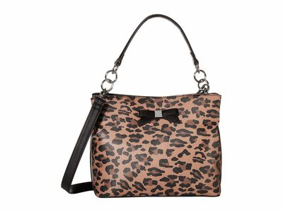 Nine West - Nine West Leopard Maile Bucket Bag Bucket Handbag