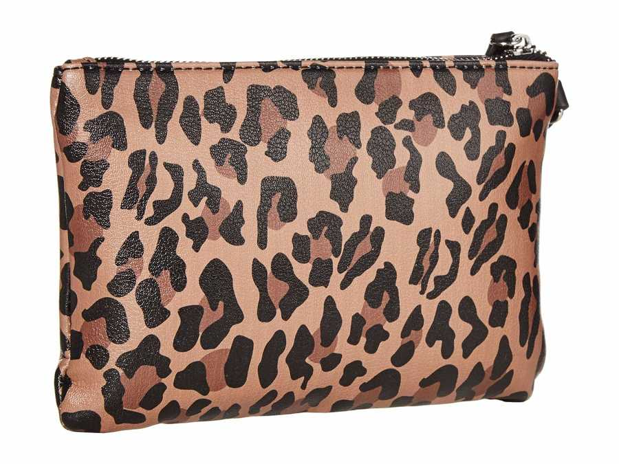 Nine West Leopard Vesper Slg Wristlet Slg İtem Coin & Card Cases Coin Card Case