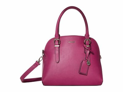 Nine West - Nine West Magenta Carrigan Dome Satchel Handbag