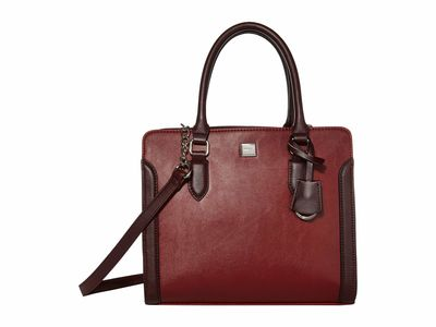 Nine West - Nine West Oxblood Multi Coralia Me Time Satchel Handbag