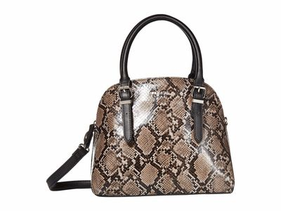 Nine West - Nine West Steel Multi Carrigan Dome Satchel Handbag