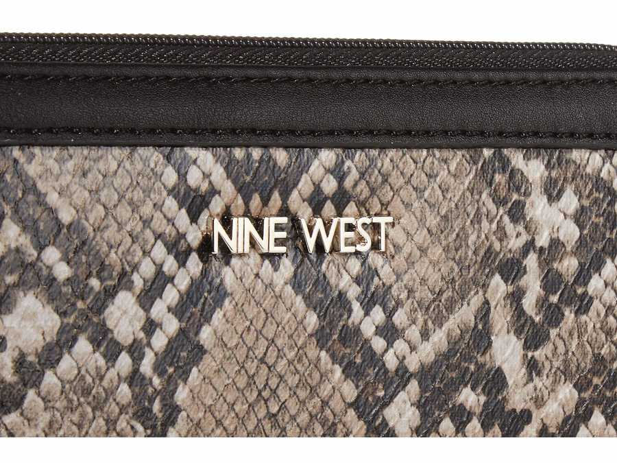 Nine West Steel Multi Vesper Slg Full Of Sparkle Zip Around Bifold Wallet Checkbook Wallet