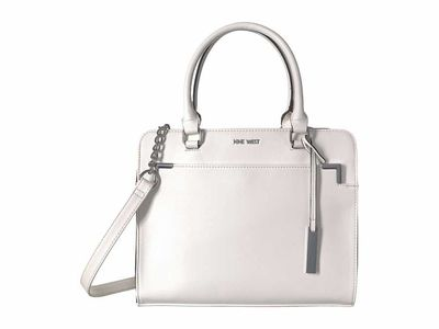 Nine West - Nine West White Domenica Satchel Satchel Handbag