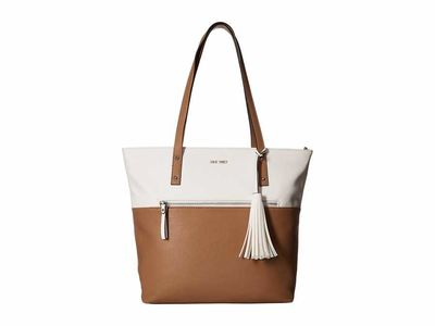 Nine West - Nine West White/Dark Wheat California Casual Tote Handbag