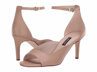 Nine West - Nine West Women Barely Nude Avielle Heeled Sandal Heeled Sandals