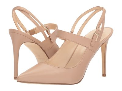 Nine West - Nine West Women Barely Nude Bella Nappa Tabbae Pumps
