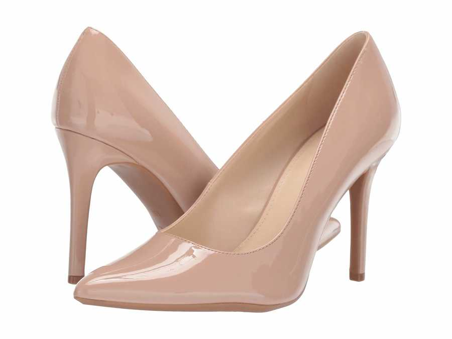 Nine West Women Barely Nude Fill Pumps