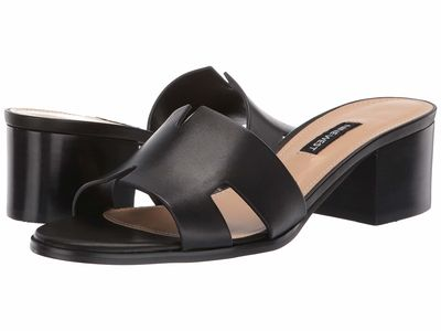 Nine West - Nine West Women Black Aubrey Sandal Heeled Sandals