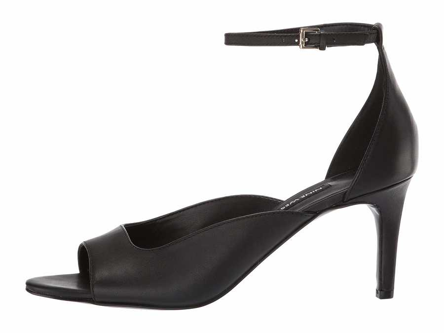 Nine West Women Black Avielle Heeled Sandal Heeled Sandals
