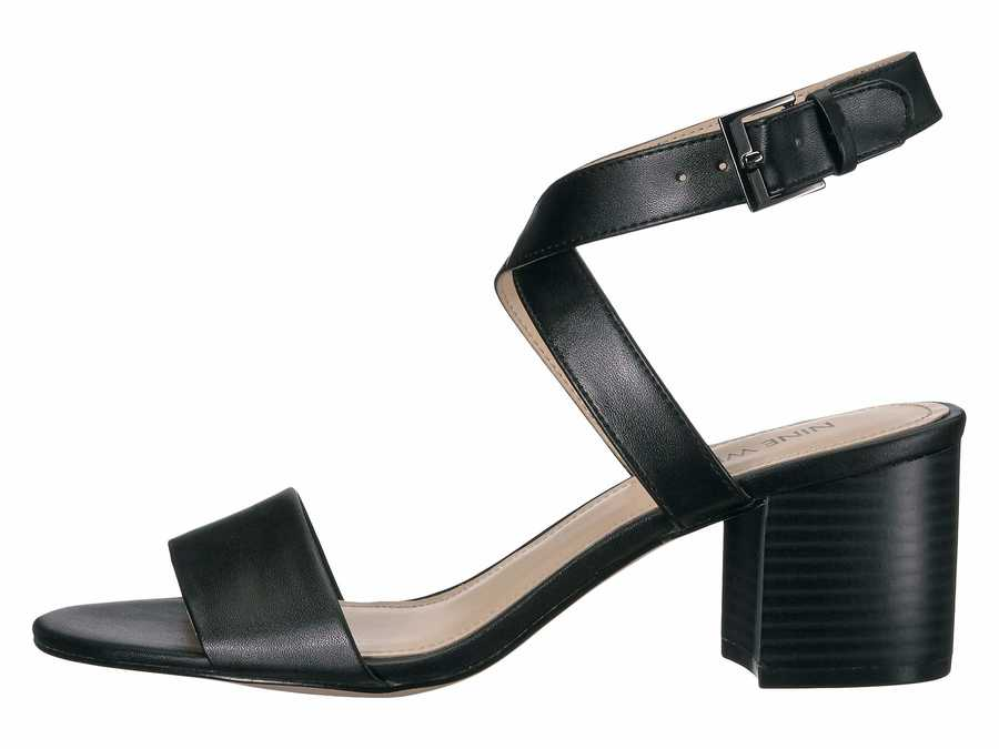 Nine West Women Black Gareth 3 Heeled Sandals