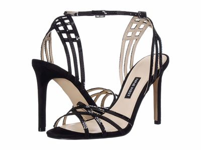 Nine West - Nine West Women Black İvonne Heeled Sandals