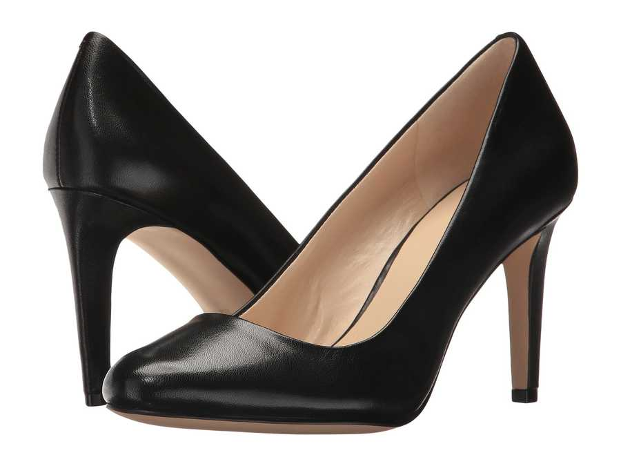 Nine West Women Black Leather Handjive Pumps
