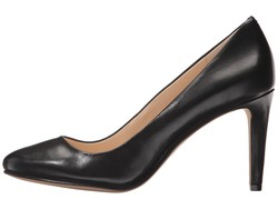 Nine West Women Black Leather Handjive Pumps - Thumbnail