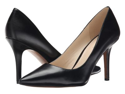 Nine West - Nine West Women Black Leather Jackpot Pumps