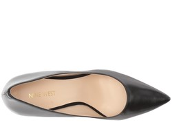 Nine West Women Black Leather Jackpot Pumps - Thumbnail