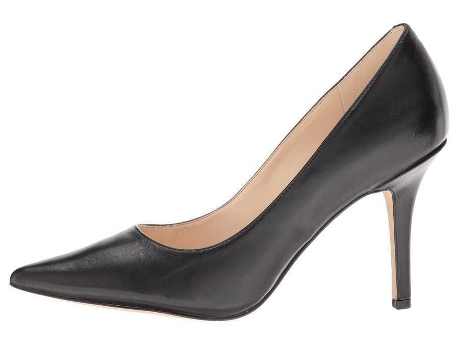 Nine West Women Black Leather Jackpot Pumps