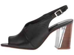 Nine West Women Black Leather Morenzo Pumps - Thumbnail
