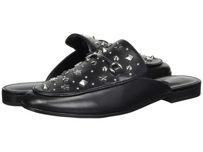 Nine West - Nine West Women Black Leather Welynne Loafers