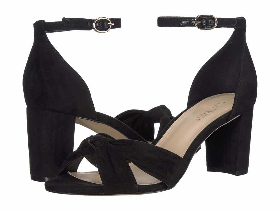 Nine West Women Black Paloma 2 Heeled Sandals
