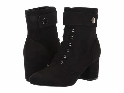 Nine West - Nine West Women Black Querna2 Lace Up Boots