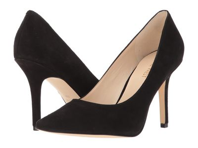 Nine West - Nine West Women Black Suede Jackpot Pumps