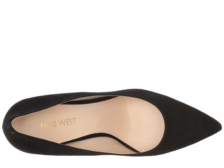 Nine West Women Black Suede Jackpot Pumps