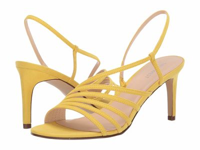 Nine West - Nine West Women Citrine Yellow Atfirst Heeled Sandals